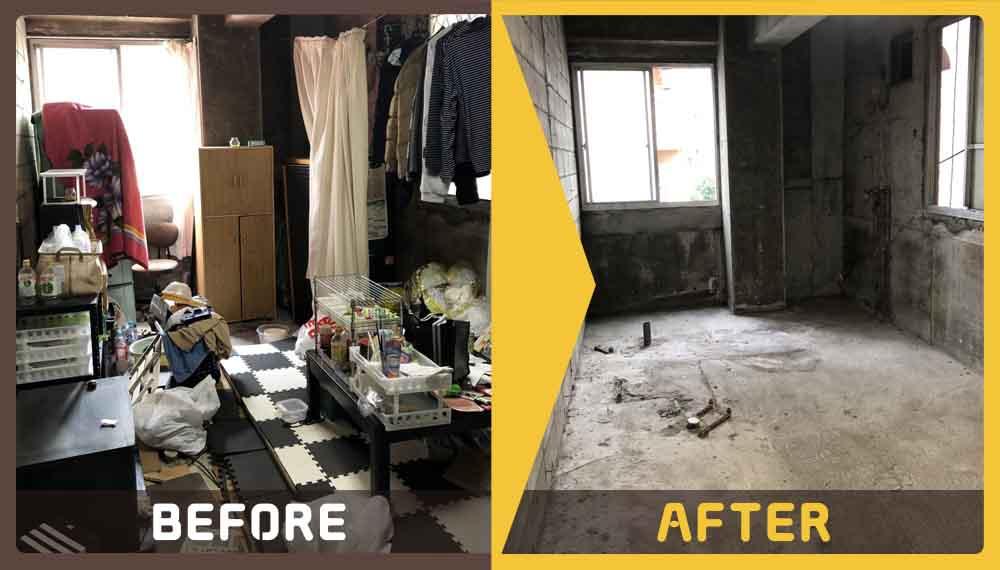 遺品整理にあたり、家具・家電や細々した不用品の処理にお困りのお客様からご依頼いただきました。