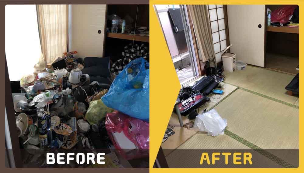 仕事が忙しくゴミの片付けができずお困りのお客様からご依頼いただきました。