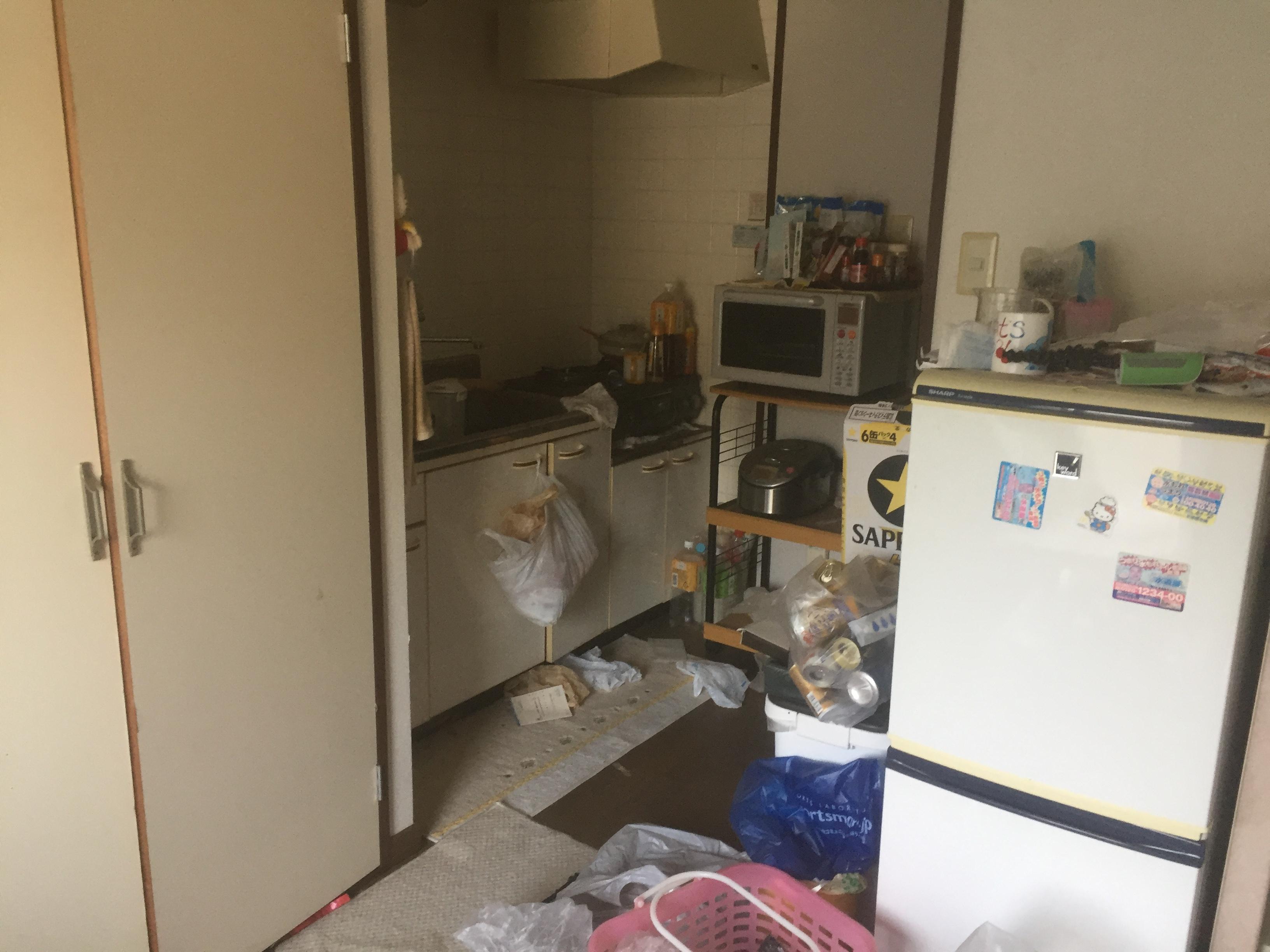 松山市北吉田町で冷蔵庫や洗濯機などの不用品処分 施工事例紹介