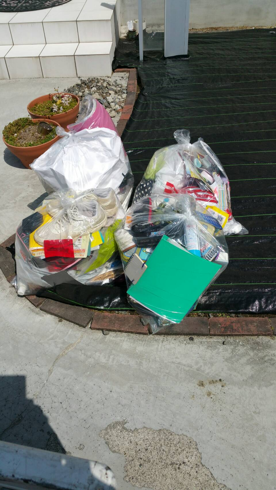 松山市津吉町で家庭ゴミ10袋程度の不用品回収 施工事例紹介