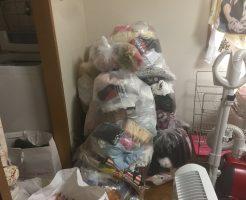 松山市土居田町で家庭ゴミなど軽トラ1台分程度の不用品処分 施工事例紹介