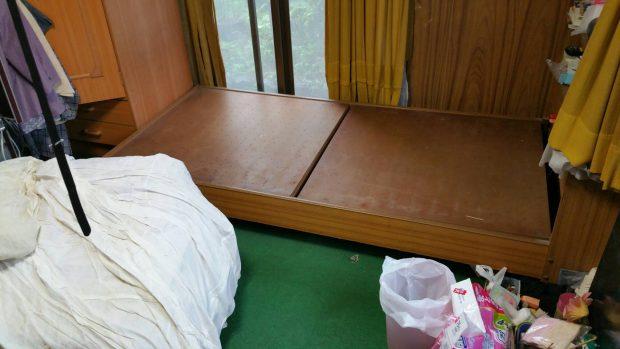松山市久米窪田町でテレビ、シングルベッドの不用品回収 施工事例紹介