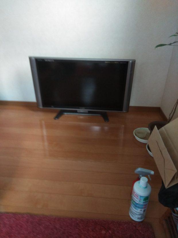 【松山市来住町】テレビ1台の回収☆急ぎのご依頼にもご希望日に対応できご満足いただけました!