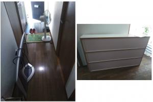 松山市で不用品(テレビ、扇風機、本棚)の回収