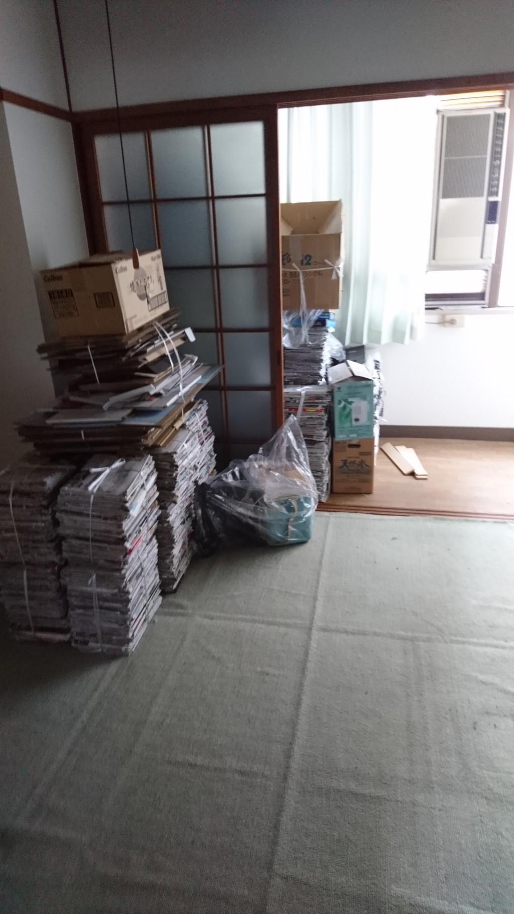 【松山市大手町】2tトラック程度の不用品の回収・処分 お客様の声