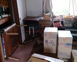 【四国中央市】2tトラック一台分の家財道具の回収 お客様の声