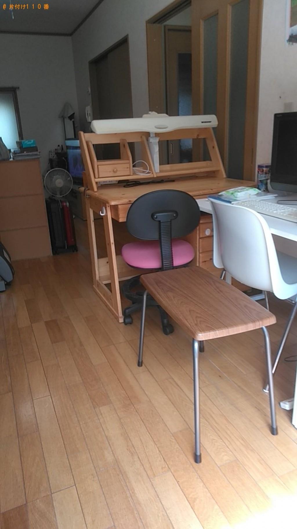 【今治市波方町】電子ピアノ、学習机、PCデスクの回収・処分 お客様の声