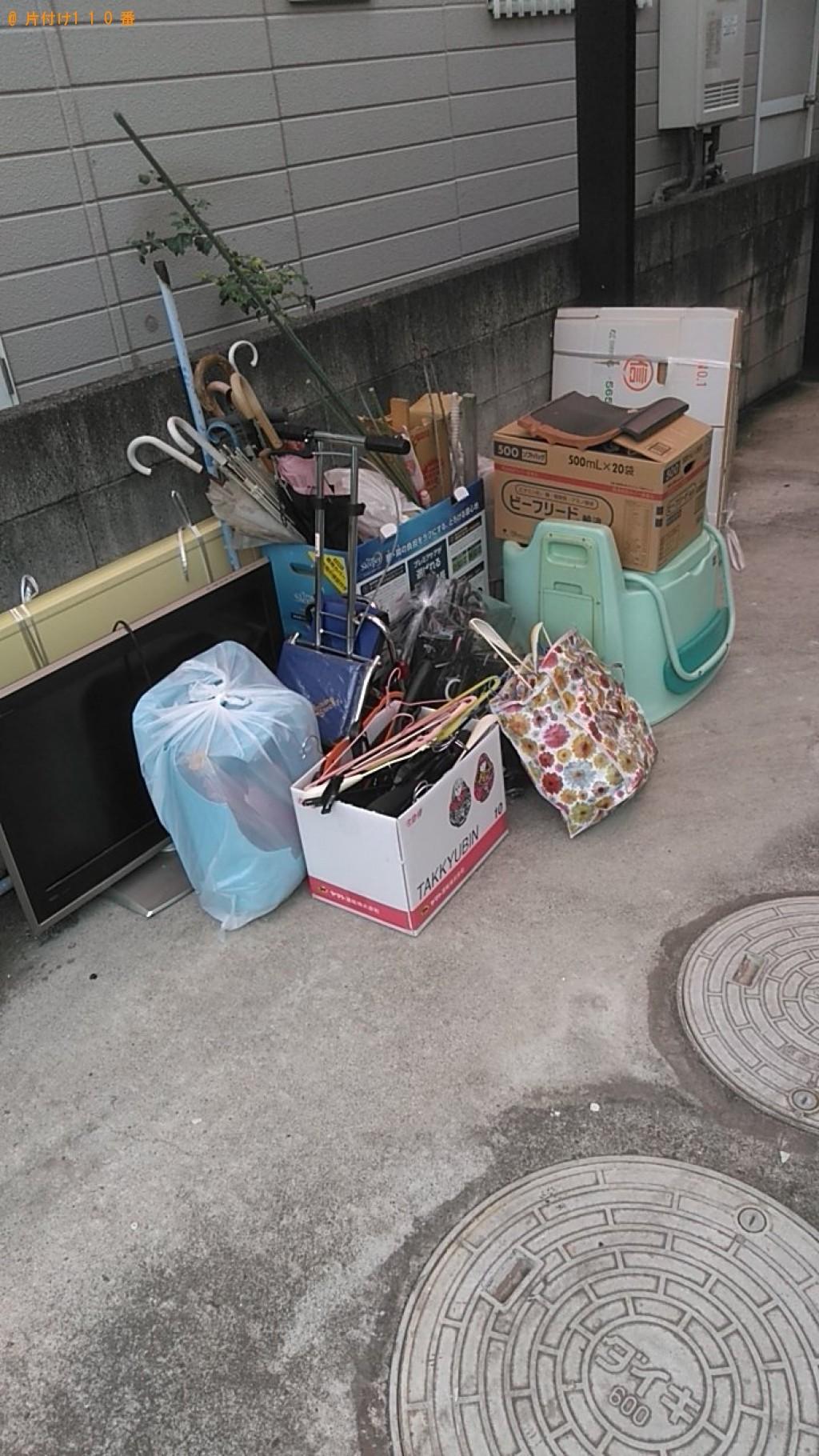 【松山市高井町】テレビ、ペットゲージ、布団等の回収・処分 お客様の声