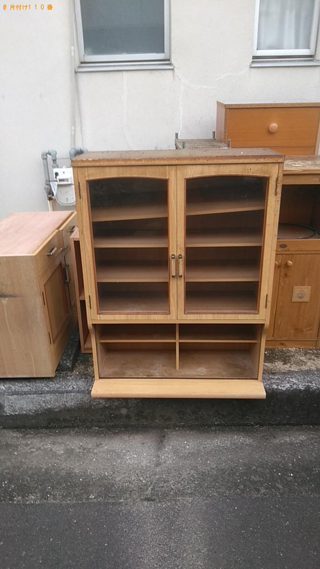 【松山市溝辺町】食器棚、整理棚、カラーボックス等の回収・処分 お客様の声