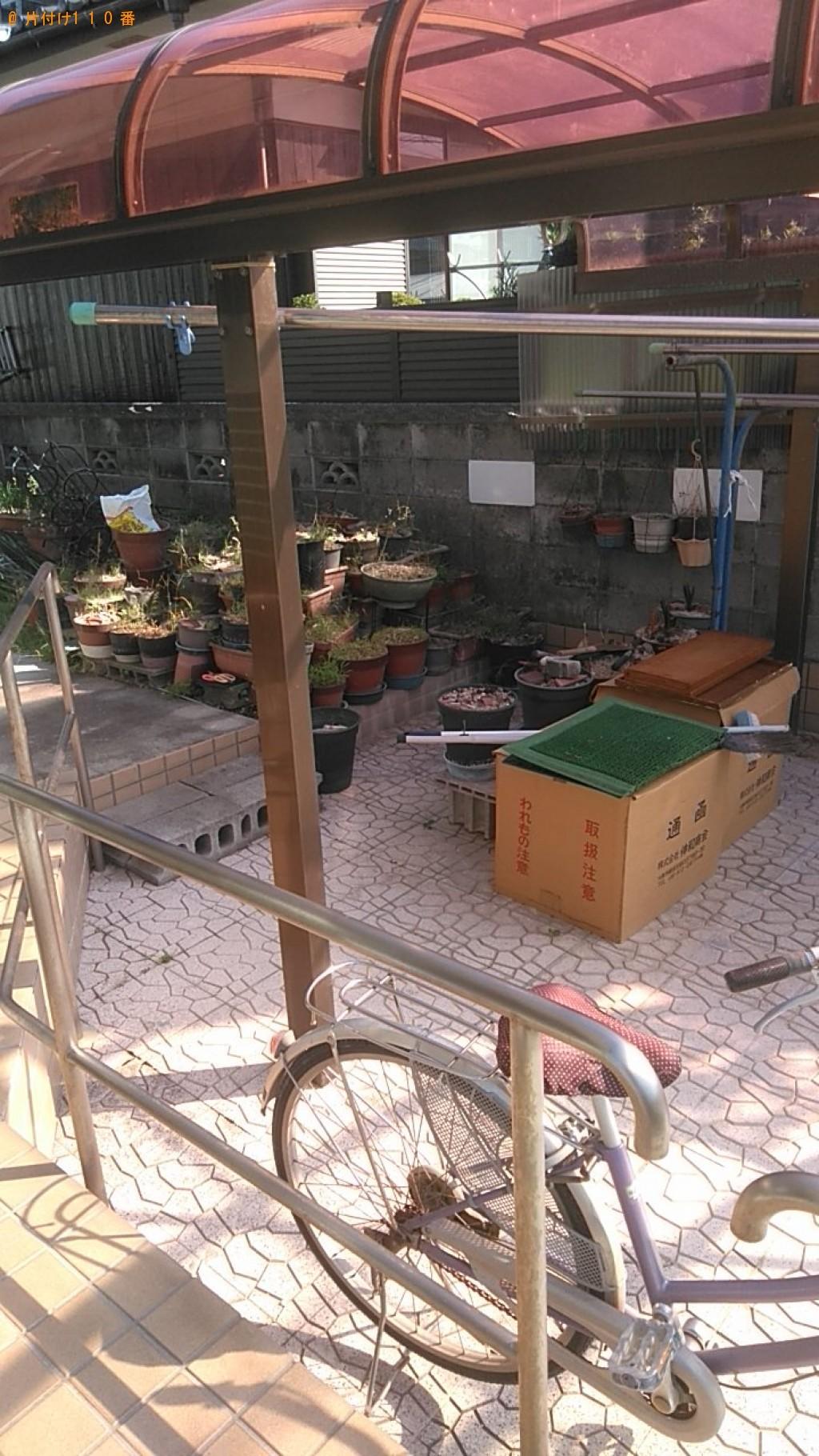 【松前町】鉢植えと園芸用品の回収・処分 お客様の声