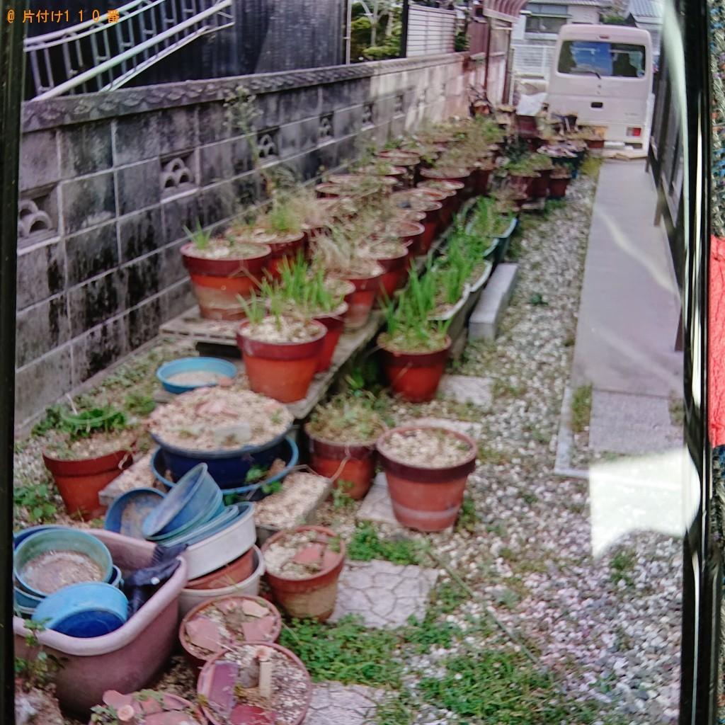 【 松前町】鉢植え、コンクリートブロック、ダンボール等の回収・処分 お客様の声
