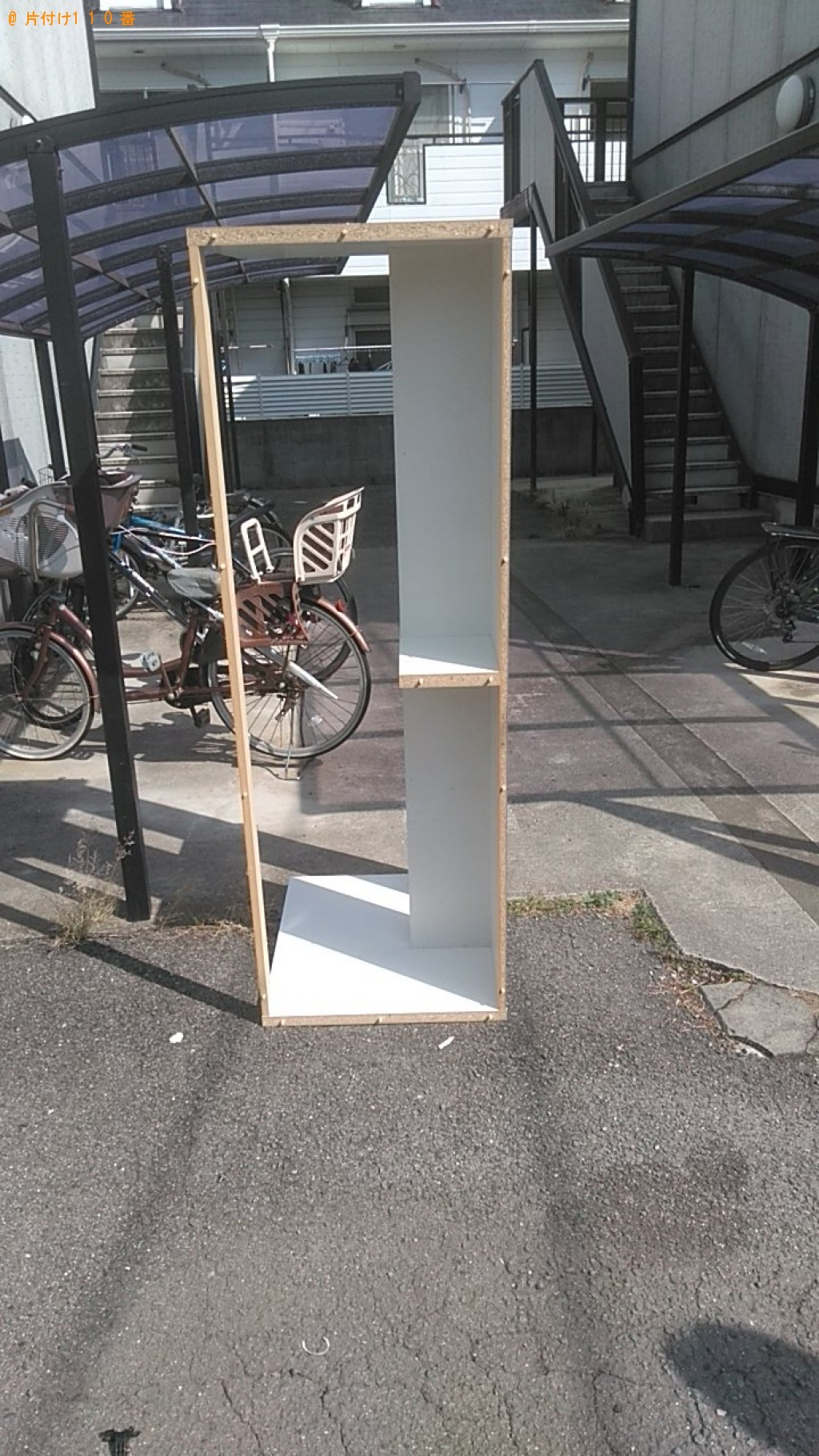 【今治市別宮町】PCデスク、オフィスチェア、折り畳み自転車の回収・処分 お客様の声
