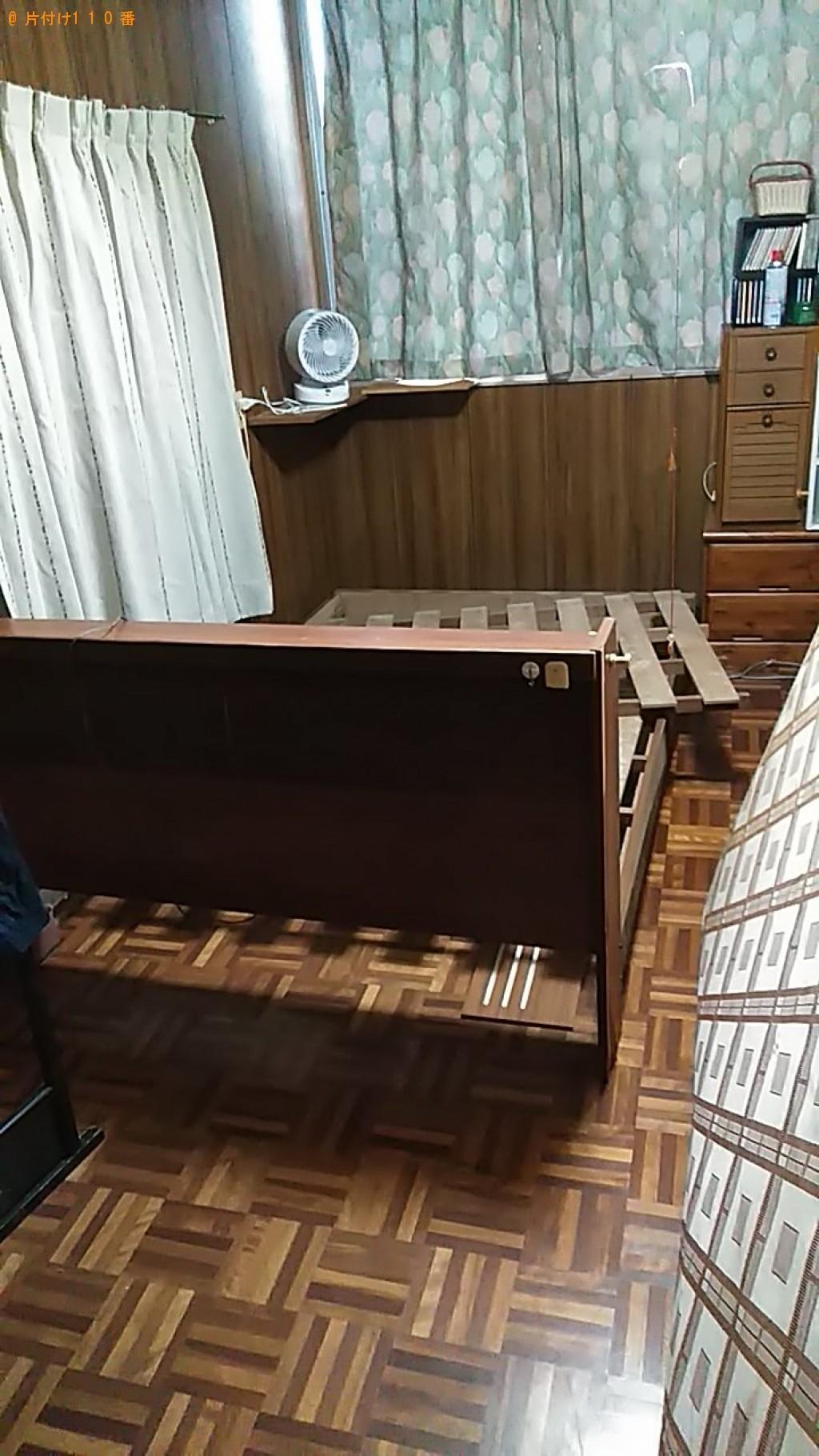 【大洲市】セミダブルベッドの回収、介護用ベッドの移動ご依頼