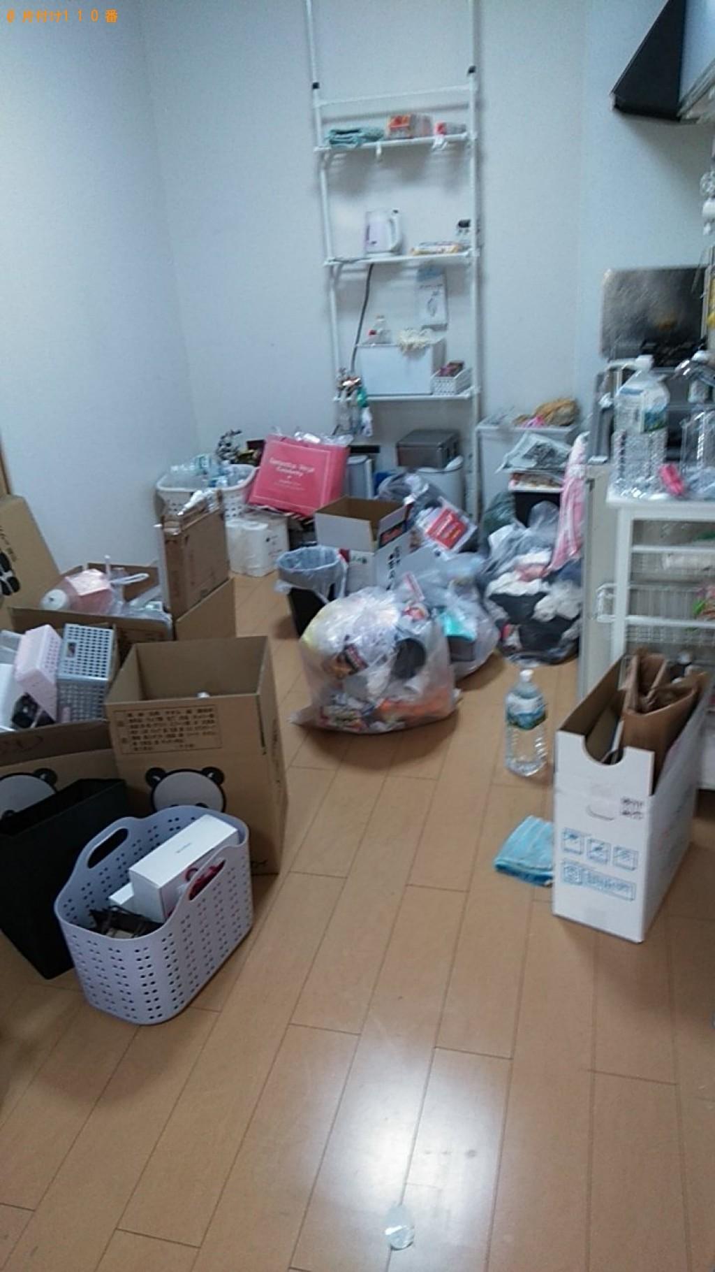 【伊予市下吾川】軽トラック1台には収まらない分量のゴミの回収依頼