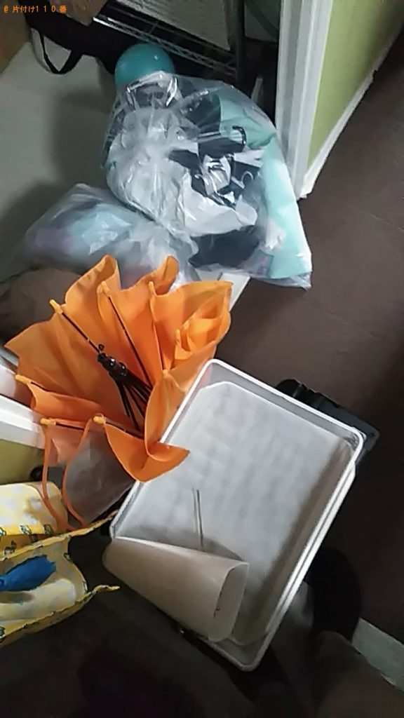 【守谷市】遺品整理に伴い折り畳みテーブル、人工芝マット等の回収・処分