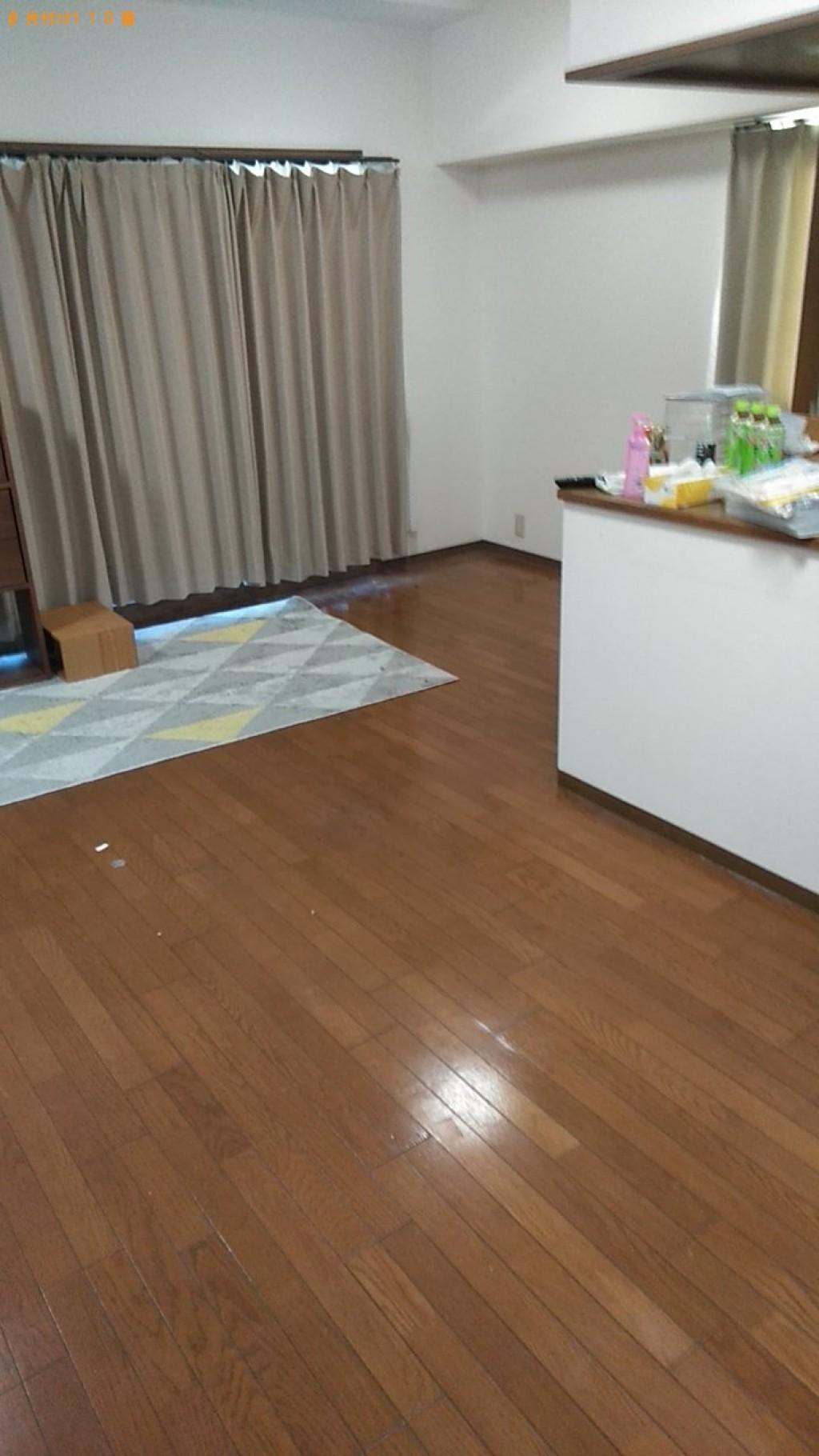 【今治市泉川町】冷蔵庫、食器棚、ワイドダブルベッドの回収・処分