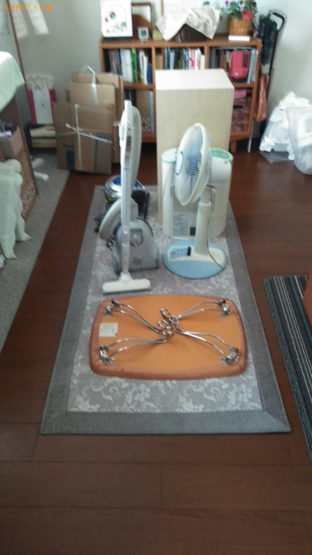 【今治市】掃除機、加湿器、扇風機、ローテーブル等の回収・処分