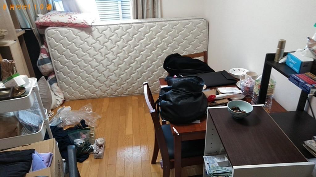 【東温市】椅子、シングルベッド、ハンガーラック等の回収・処分