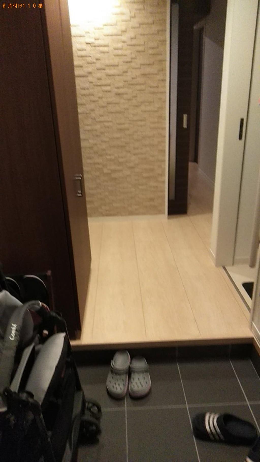 【松山市】シングルベッドマットレス二つの回収・処分ご依頼