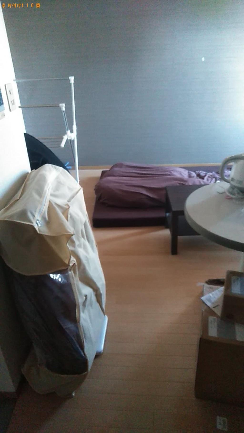 【松山市】洗濯機、セミダブルウレタンマットレスの回収・処分ご依頼