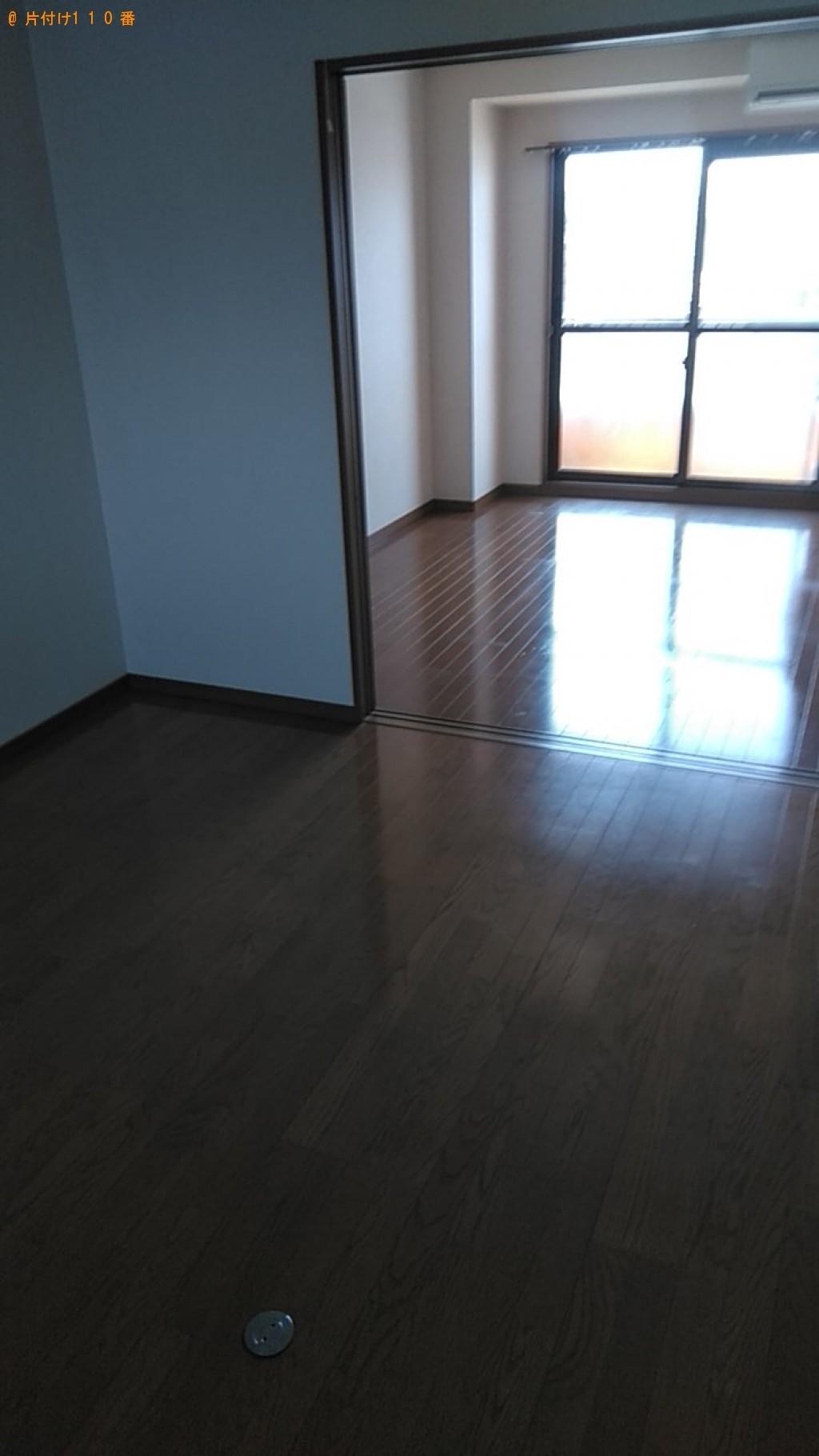 【松山市】冷蔵庫、洗濯機、食器棚、シングルベッドの回収・運搬
