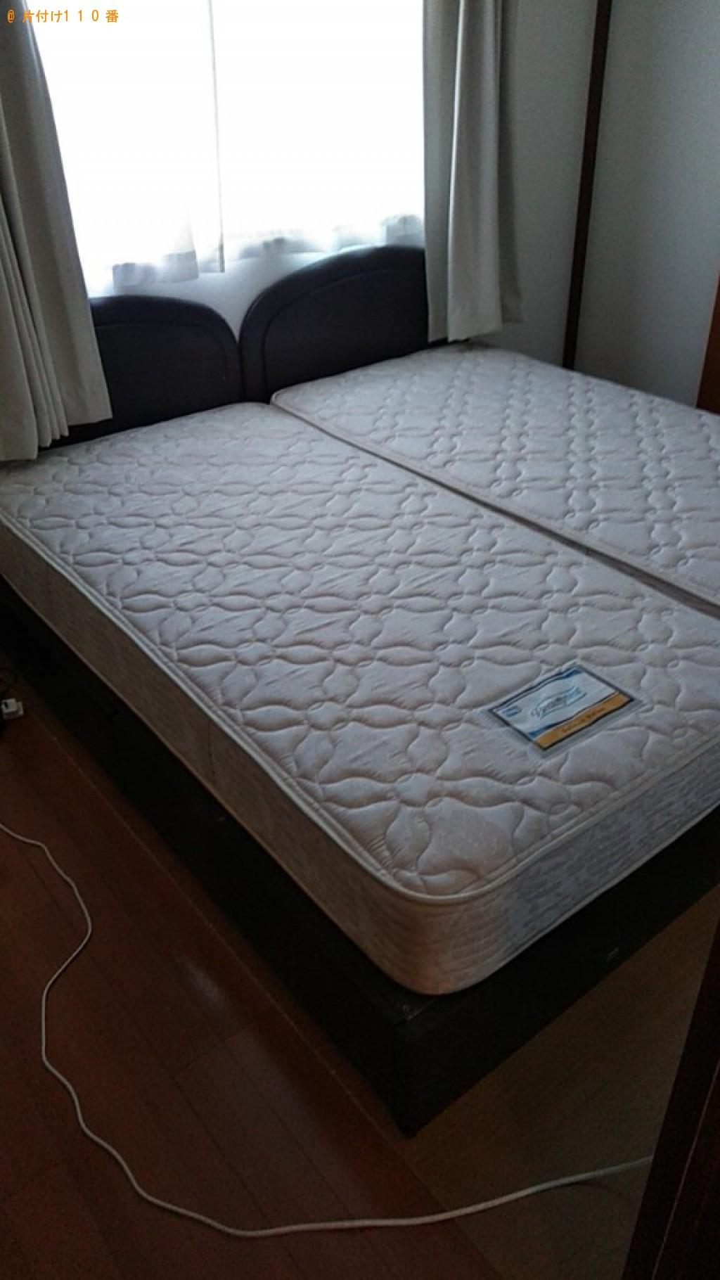 【松山市】シングルベッド、ベッドマットレスの回収・処分ご