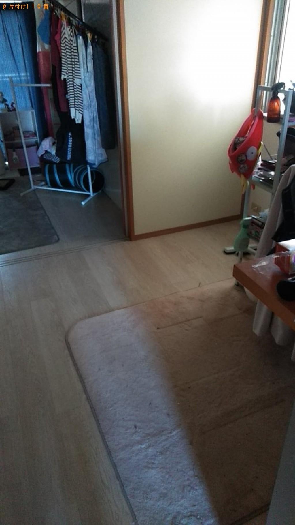 【松山市三番町】三段ボックス、机、タンス等の回収・処分ご依頼