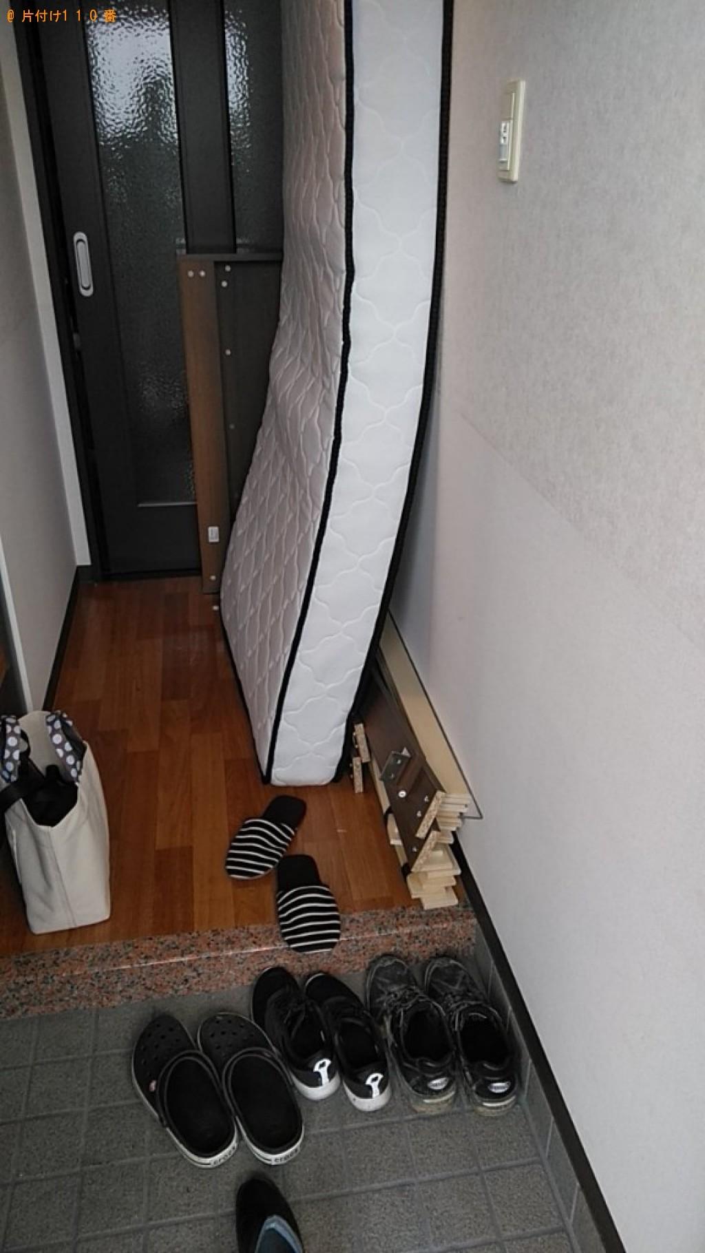 【松山市】シングルベッド、ベッドマットレスの回収・処分