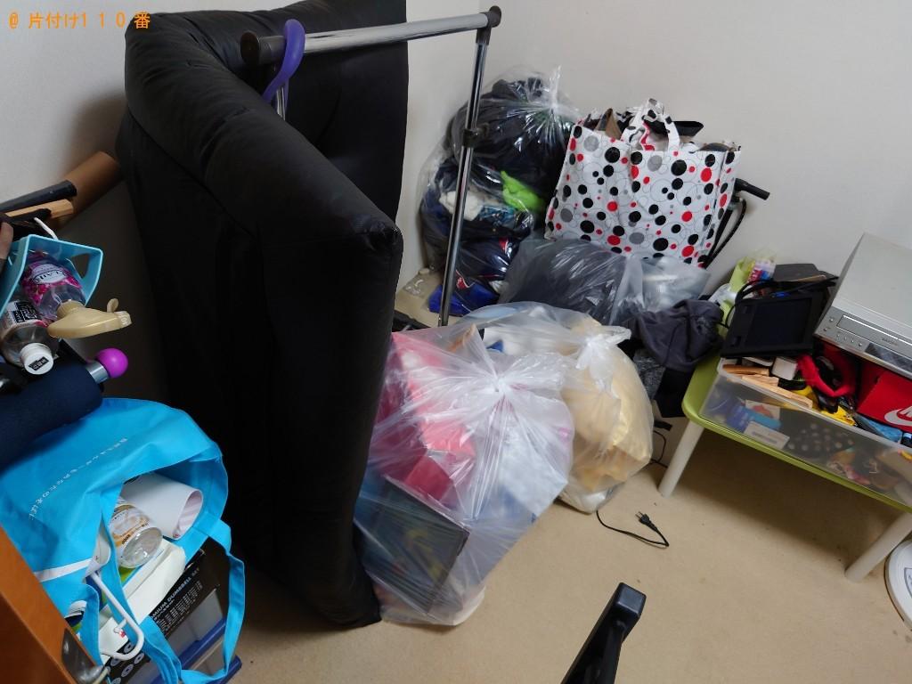 【桑名市】ポールハンガー、ソファー、衣類、布団等の回収・処分