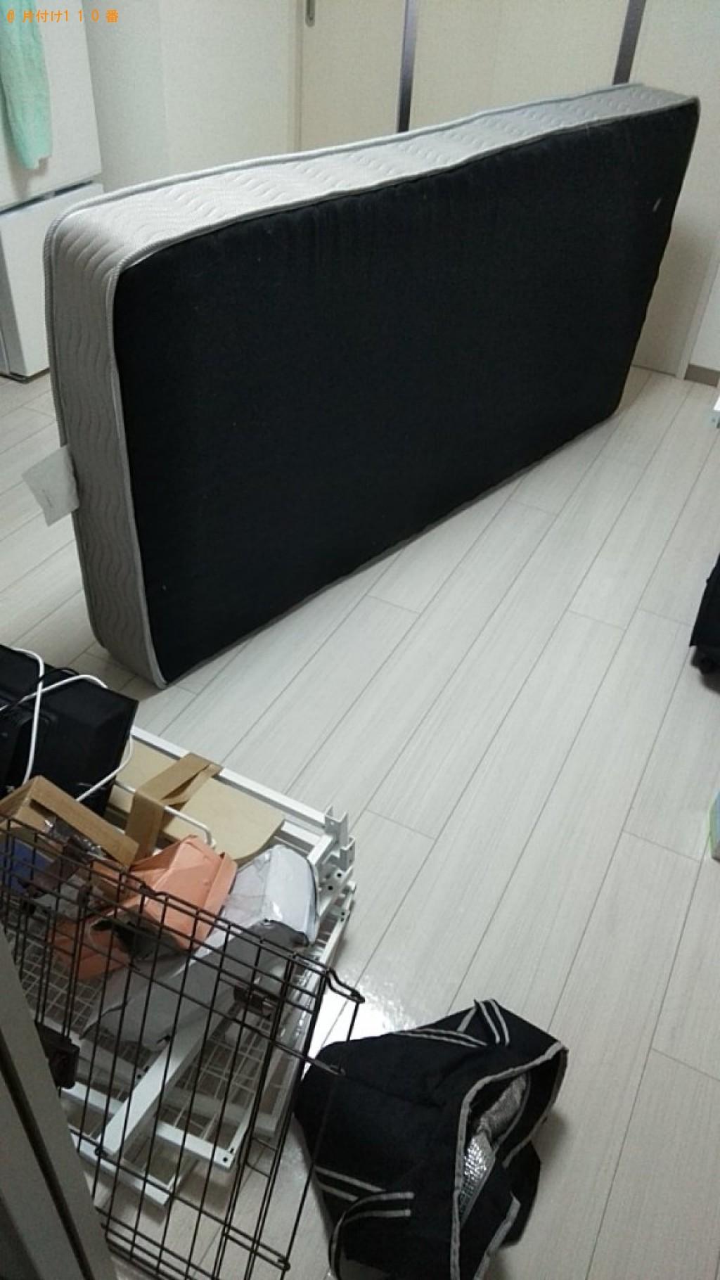 【松山市柳井町】折り畳みベッド、シングルベッドマットレスの回収