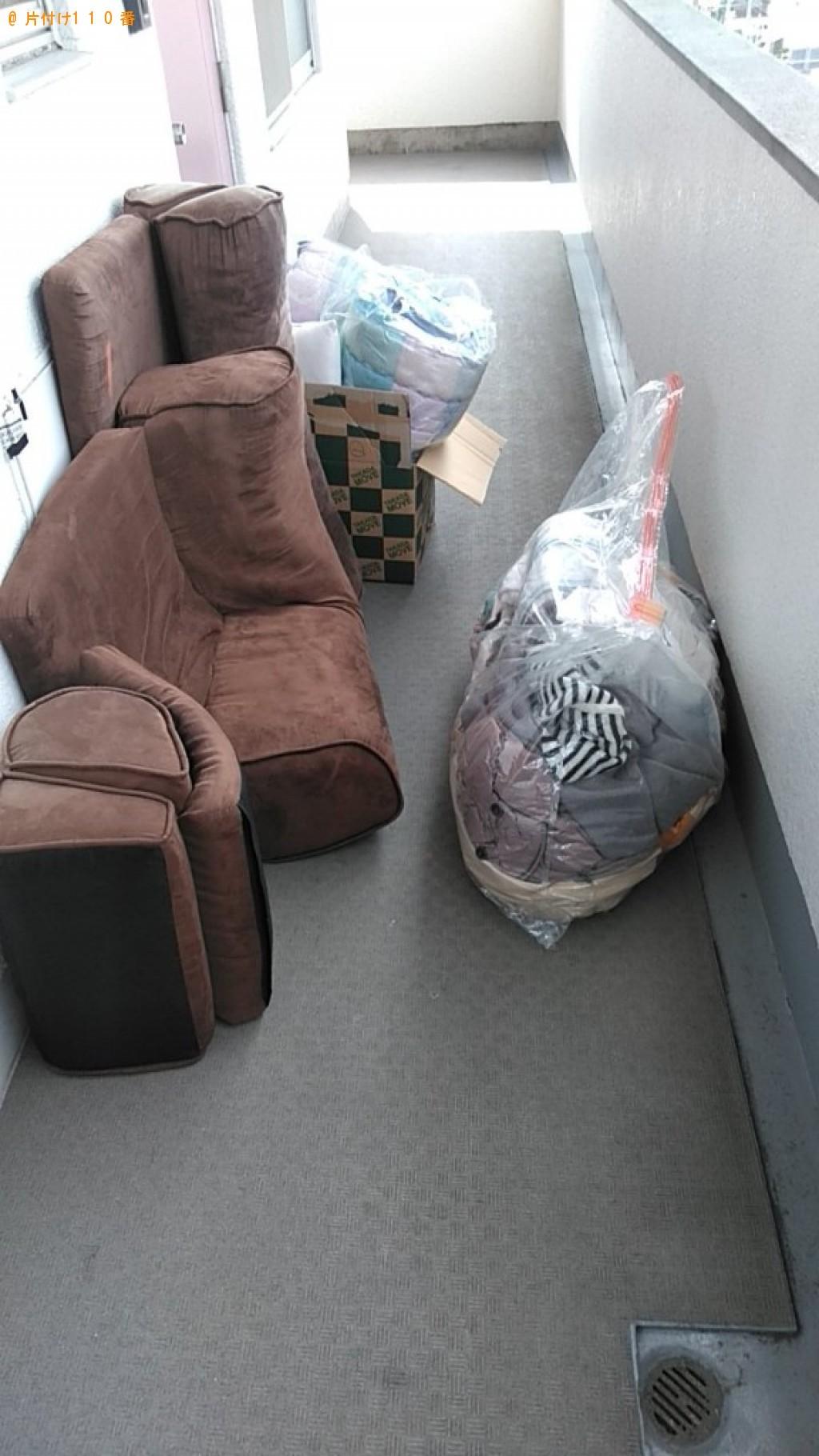 【松山市朝生田町】ソファー、衣類の回収・処分ご依頼 お客様の声