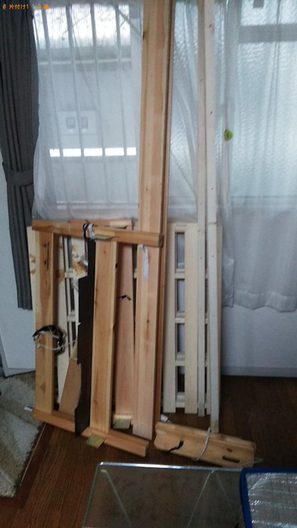 【松山市】シングルベッド(マットレス付)の回収・処分ご依頼
