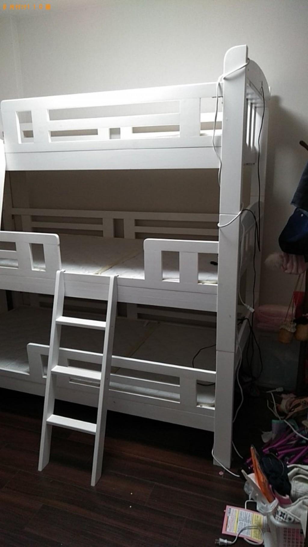 【松山市歩行町】二段ベッド、ダブルベッド、ベッドマットレスの回収