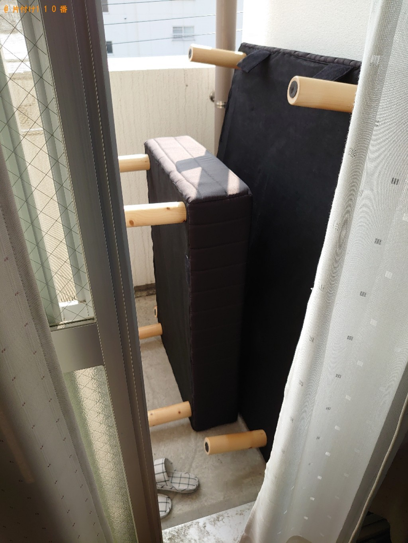 【松山市柳井町】シングルベッド(マットレス付)の回収・処分ご依頼