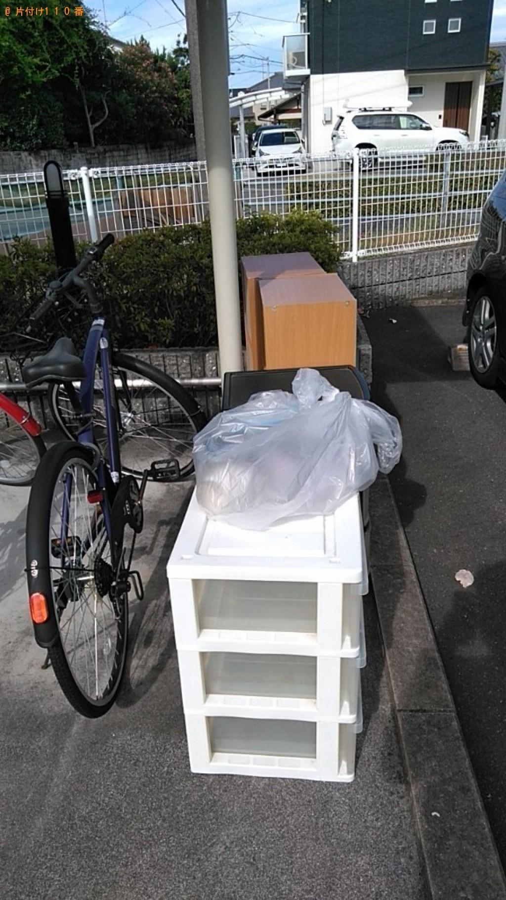 【松山市】カラーボックス、衣装ケース、自転車等の回収・処分ご依頼