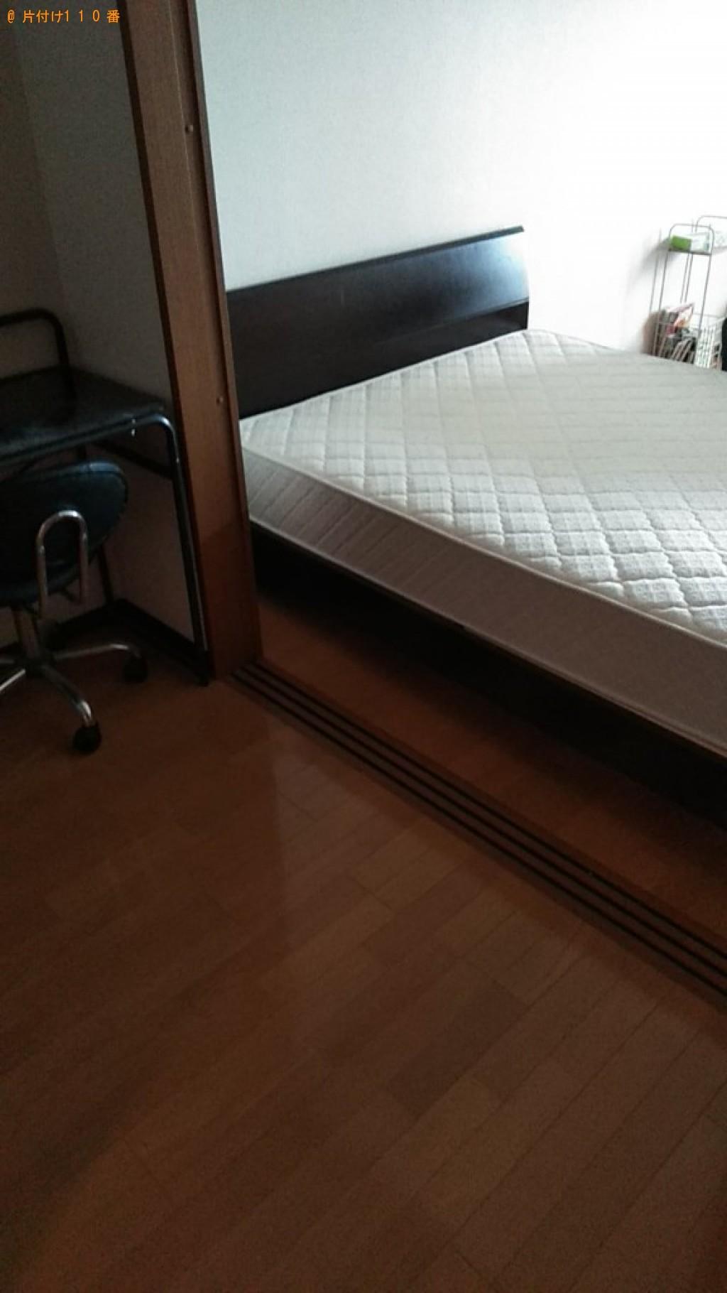 【松山市】椅子、学習机、ダブルベッド、ベッドマットレスの回収