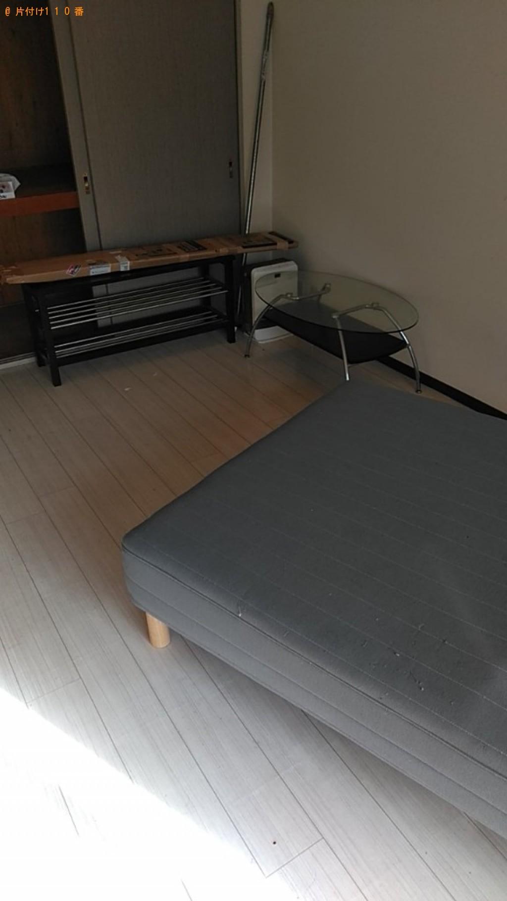 【松山市千舟町】冷蔵庫、洗濯機、ガラステーブル、テレビ台等の回収