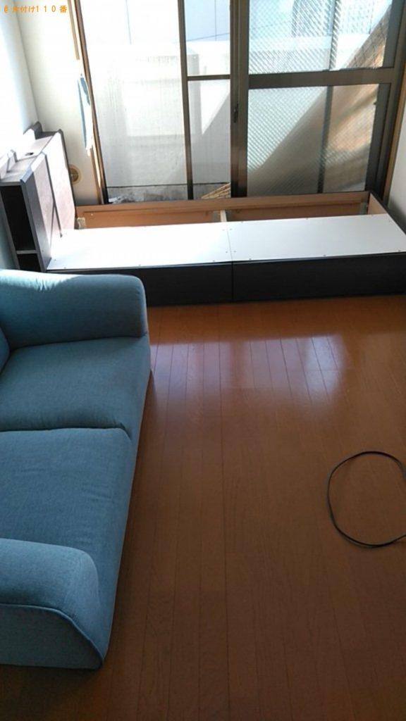 【宇和島市】遺品整理で冷蔵庫、洗濯機、マットレス付きシングルベッド等の回収