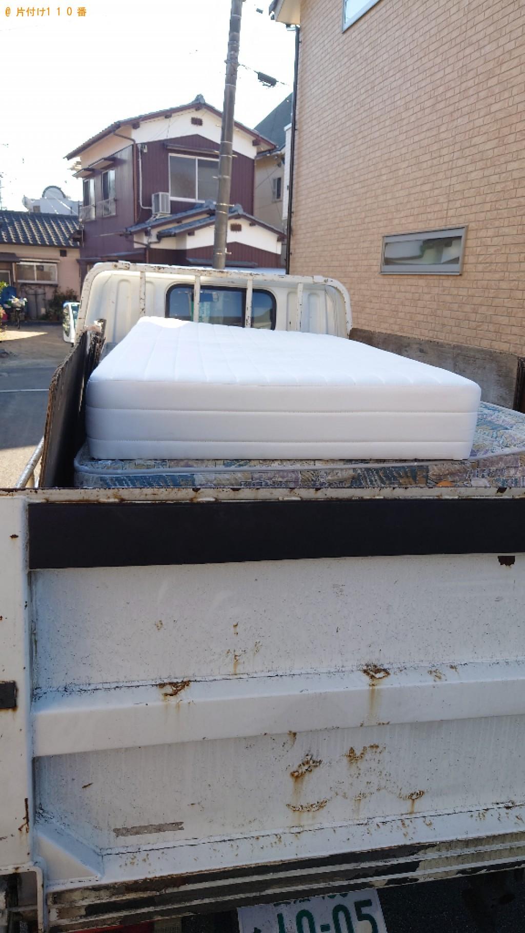 【松山市】マットレス付きシングルベッドの回収・処分ご依頼