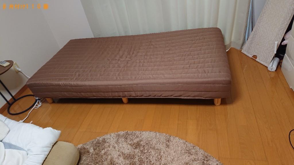 【東温市】マットレス付きシングルベッドの回収・処分ご依頼