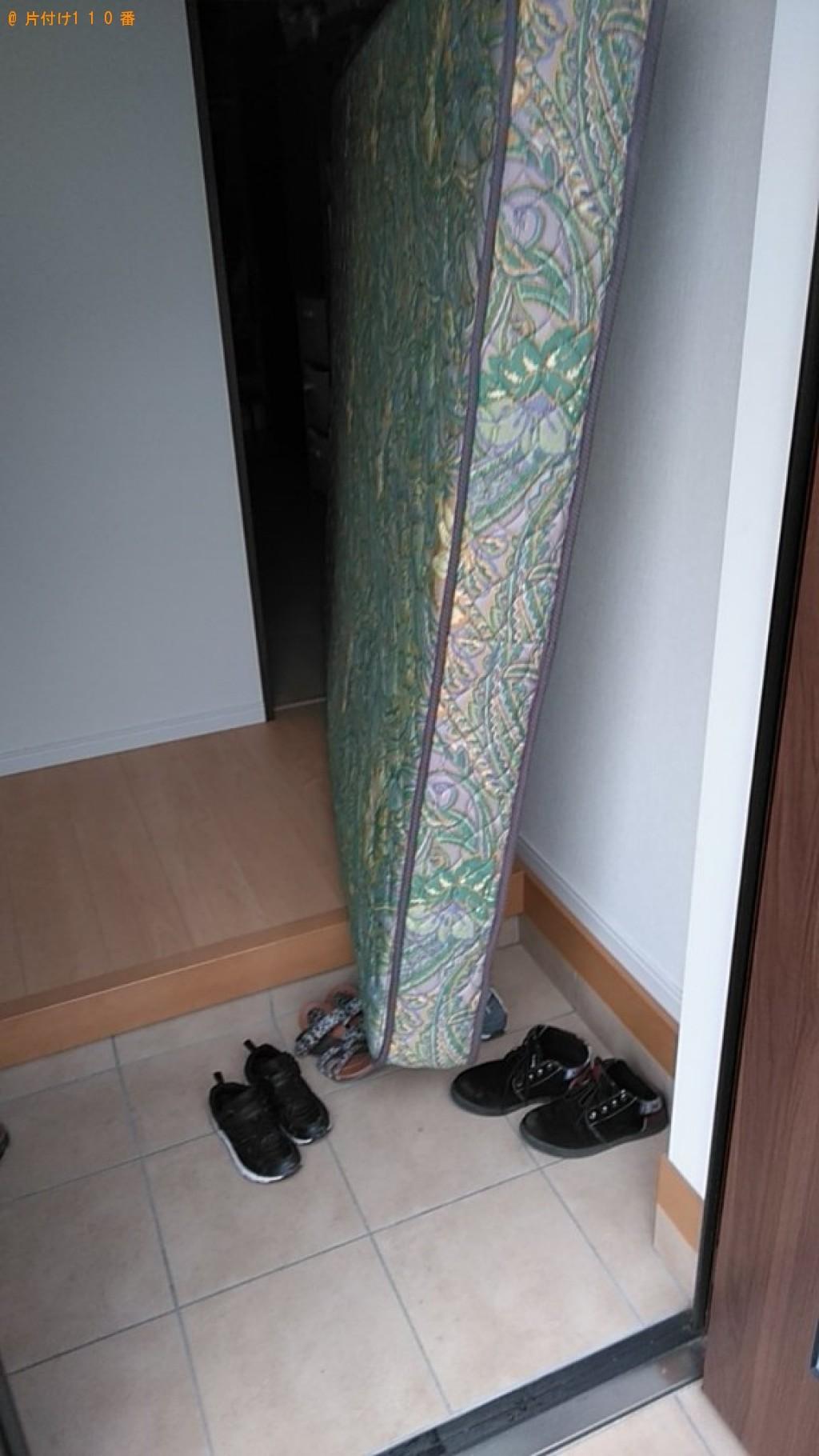 【松山市久米窪田町】クィーンベッドマットレスの回収・処分ご依頼