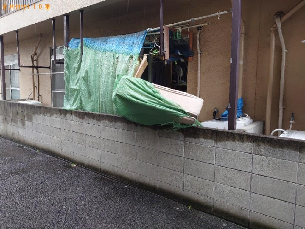 【松山市】テレビ、シングルベッドマットレスの回収・処分ご依頼