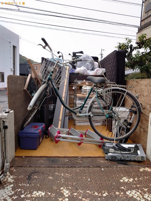 【松山市北斎院町】テレビ、テレビ台、自転車の回収・処分ご依頼
