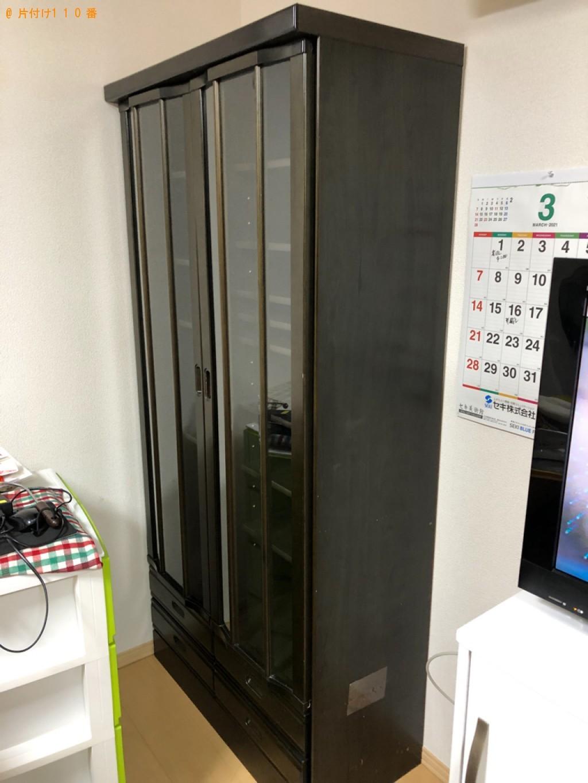 【松山市】食器棚の回収・処分ご依頼 お客様の声